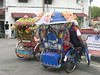 Malacca - Heavily decorated bicycle rickshaw