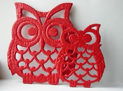 Part of an Adorable Owl Trivet Set