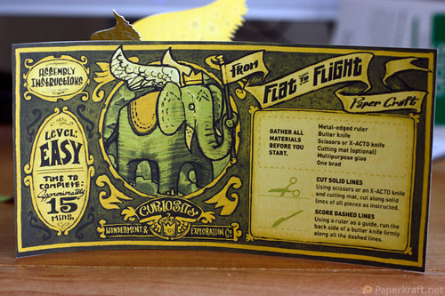Winged Elephant Papercraft 08