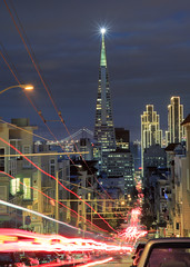 (exxonvaldez) Tags: sanfrancisco lighting longexposure holiday night transamerica discoball hdr sfist