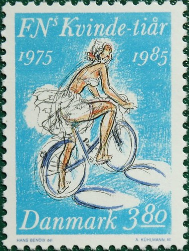 Cycle Chic as Danish Stamp