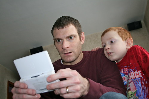 Boys Playing DS