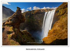 Pour (Dylan Toh) Tags: bird nature rock landscape waterfall iceland wildlife seagull spray formation hdr skogar thorsmork photomatix skogarfoss
