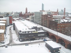Manchester in the snow