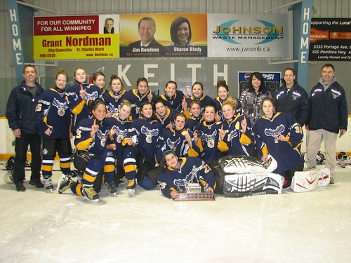 The Eagles Girls Hockey team picked up a tournament win this weekend in Winnipeg.