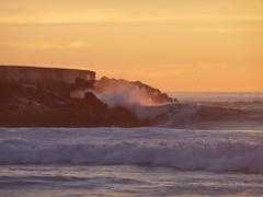 (jdmofo86) Tags: sunset beach hermosabeach breakwall