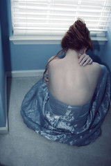 ble (|Kelly Miller|) Tags: blue portrait back glow dress song gackt