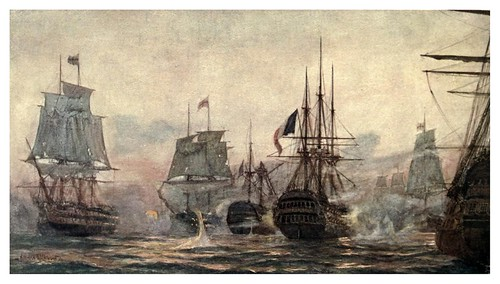 004-La batalla del Nilo agosto de 1798-The Royal Navy (1907)- Norman L. Wilkinson