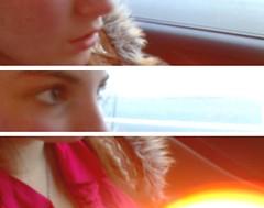 355/365 (catastrophicsmile) Tags: light orange car drive three mixed glow burn lensflare 355 day355 365days