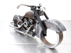 scrap metal motorcycle sculpture sculpture