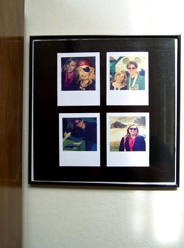 photo wall art: faux polaroids