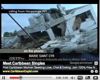 Inapproriate Google ads - Haiti disaster 02