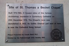 Photo of St Thomas a Becket Chapel, Peterborough grey plaque