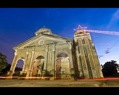 Panglao Church Lights (Lost In The RP) Tags: sky church nikon skies philippines bohol watchtower panglao d300s