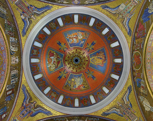 Cathedral Basilica of Saint Louis, in Saint Louis, Missouri, USA - main dome