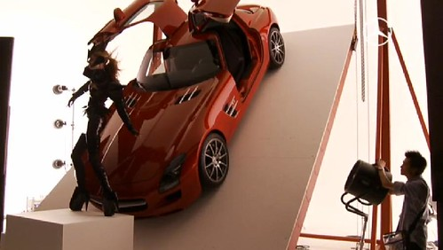 Mercedes-Benz SLS campaign by Nick Knight and Gareth Pugh