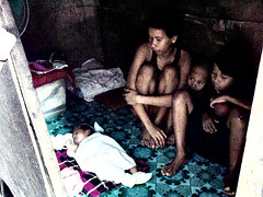 1 month old sharing a room (angeltm) Tags: poverty philippines shanty dagatdagatan