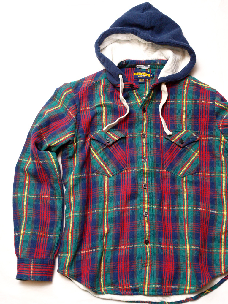 Rugby / Thermal-Lined Flannel Hoodie