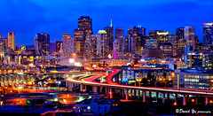 Amazing view of San Francisco downtown landscape twilight.