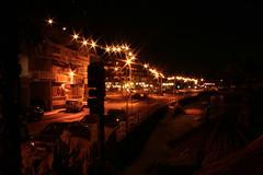 Mellieha Bay, Malta (Audiotribe) Tags: street longexposure light color colour art night canon stars eos star exposure glow nat malta flare malte mellieha ghadira melliehabay sooc 400d eos400 flickraward