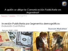 ¿A quién se dirige la comunicación publicitaria en Argentina?