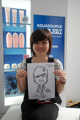 Caricature live sketching for Biotherm Roadshow Loreal - 19