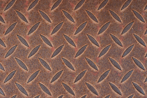 Texture: Rusted Diamond Cut Aluminum