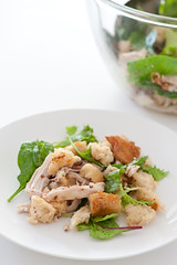 roast chicken & bread salad