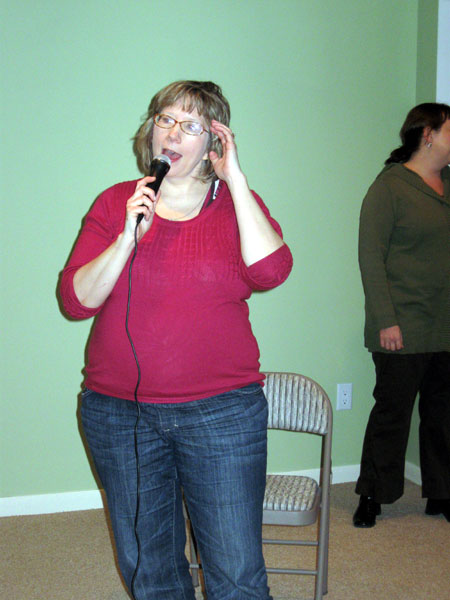 Alyce on the Microphone (Click to enlarge)
