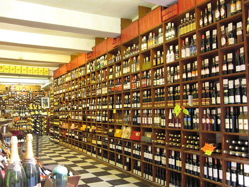 wall of wines