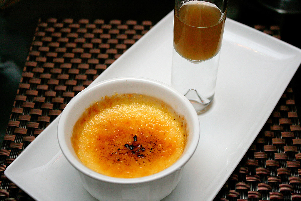 Creme Brulee with Licorice Reduction