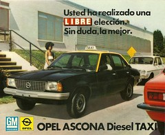Opel Ascona Diesel (Hugo-90) Tags: auto car ads advertising ascona gm diesel cab taxi voiture bil brochure opel generalmotors drucksache