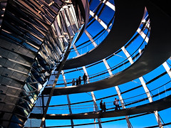 inside the Reichstag dome: courtesy of tehzeta, on Flickr