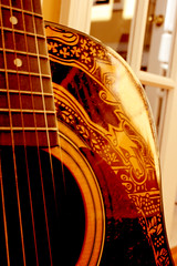 The Sharpie Guitar - detail of hound