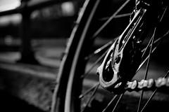 Geared (Khalid Sarwar) Tags: blackandwhite white black wheel canon eos gear chain cogs gears 400d eos400