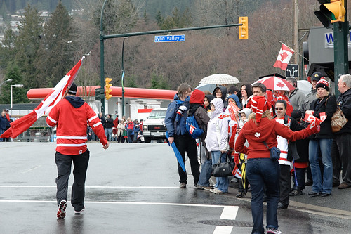 Olympic Torch in Lynn Valley, North Vancouver B.C. Feb 10 2010 -3