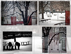 Snow Snow... (Shweta Mukherjee) Tags: park snow collage snowman basel snowfall