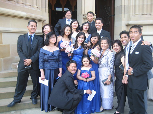 Faustino Family at Michaels Wedding in Sydney