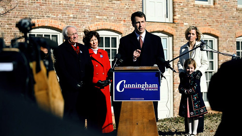 Cal Cunningham Announces his candidacy for US Senate