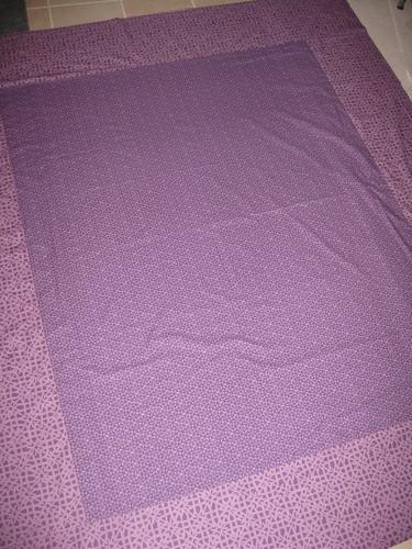 green violet quilt backing