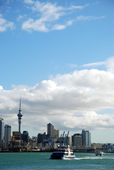 Auckland Skyline (geoftheref) Tags: new city travel our newzealand vacation sky holiday building tower water ferry skyline spring cityscape harbour space auckland zealand nz akl aotearoa bout ourspace geoftheref ourspacenz