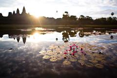 Angkor Wat (benmillerphotography) Tags: travel sky trekking trek temple asia cambodia culture angkorwat adventure waterlilies removedfromstrobistpool nooffcameraflash seerule1