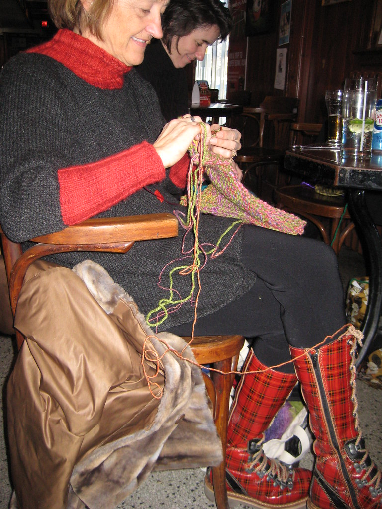 Sally Melville and her Awesome Tartan Boots