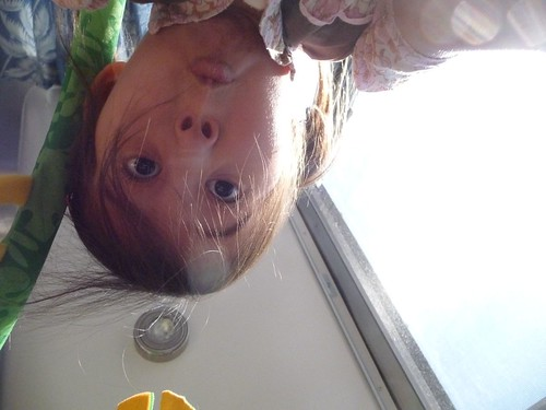 flipping the camera around on herself.