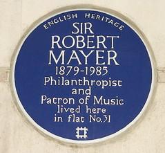 Photo of Robert Mayer blue plaque