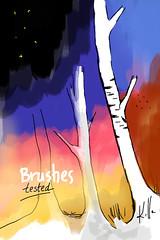 brushes vs sketchbook
