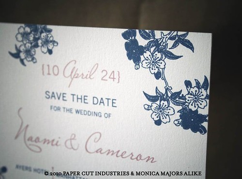 Blossoms Wedding Save the Date