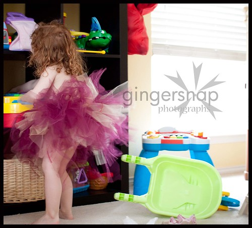 playing in a tutu
