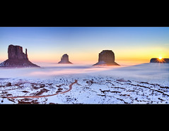 Sunrise in Monument Valley - The Mittens - Arizona (Dominique Palombieri) Tags: arizona usa snow sunrise lens landscape utah flickr fav50 fav20 dominique monumentvalley fav30 mittens 2010 100iso 17mm fav10 fav250 fav100 fav200 fav300 fav40 fav60 fav110 fav90 fav150 fav170 fav80 fav70 tsebiindzisgaii anawesomeshot fav120 fav140 fav160 canoneos7d fav180 ostrellina fav190 fav130 fav210 fav220 fav230 fav240 fav260 fav270 fav280 1125secatf80 visipix fav290 fav310 fav320 platinumbestshot fav330 palombieri flickrawardgallery mygallery1 mayoznico mayozdom