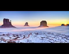 Sunrise in Monument Valley - The Mittens - Arizona (Dominique Palombieri) Tags: arizona flickr monumentvalley sunrise usa utah snow 17mm 2010 canoneos7d 1125secatf80 100iso lens dominique palombieri landscape platinumbestshot anawesomeshot ostrellina flickrawardgallery mittens tsebiindzisgaii mygallery1 fav10 fav20 fav30 fav40 fav50 fav60 fav70 fav80 fav90 fav100 fav110 fav120 fav130 fav140 fav150 fav160 fav170 fav180 fav190 fav200 fav210 fav220 fav230 fav240 fav250 fav260 fav270 fav280 fav290 fav300 fav310 fav320 fav330 mayoznico mayozdom